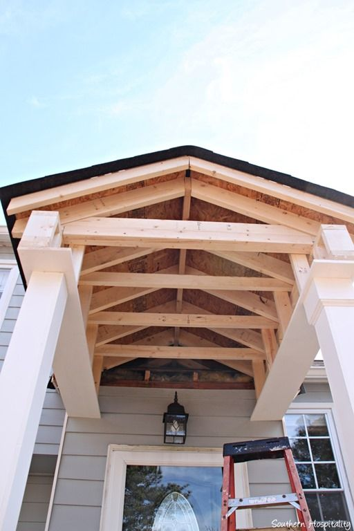 Building A Front Portico House With Porch Portico Entry