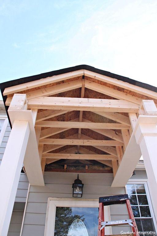 Building A Front Portico Front Porch Portico Entry