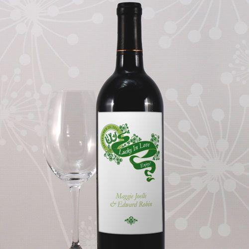 Luck Of The Irish Wine Label