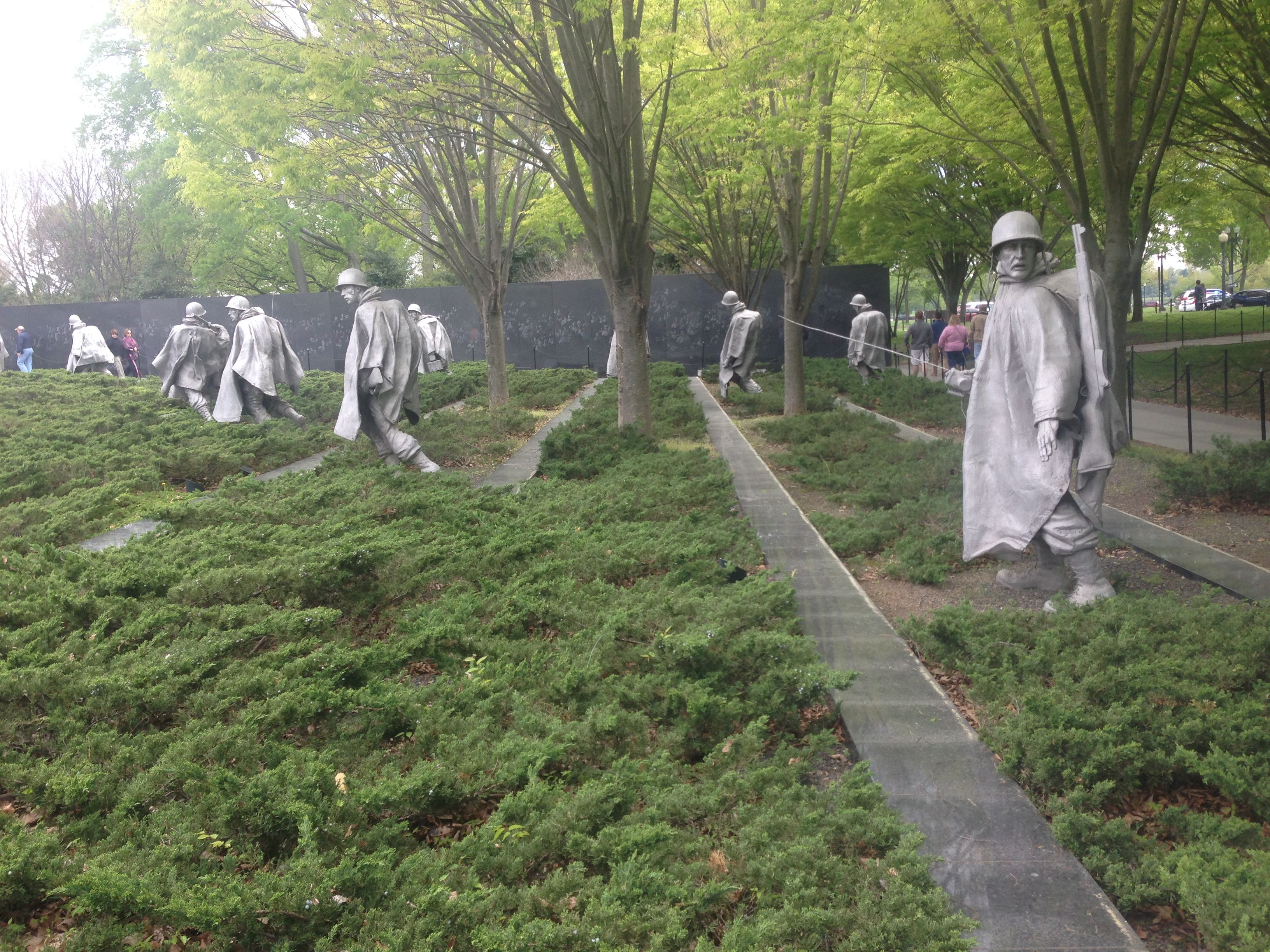 At Korean Memorial There Are 19 Statues In This Picture But There