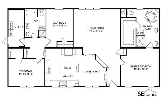 Clayton homes home floor plan manufactured homes for Manufactured home plans with garage