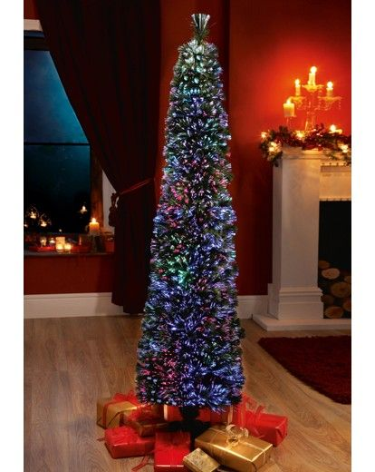 Super-Slim Fibre Optic Tree 6ft | Marisota - Super-Slim Fibre Optic Tree 6ft Marisota Christmas Pinterest