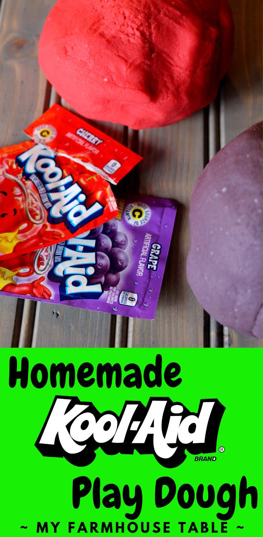 Homemade KoolAid Play Dough Recipe Homemade playdoh