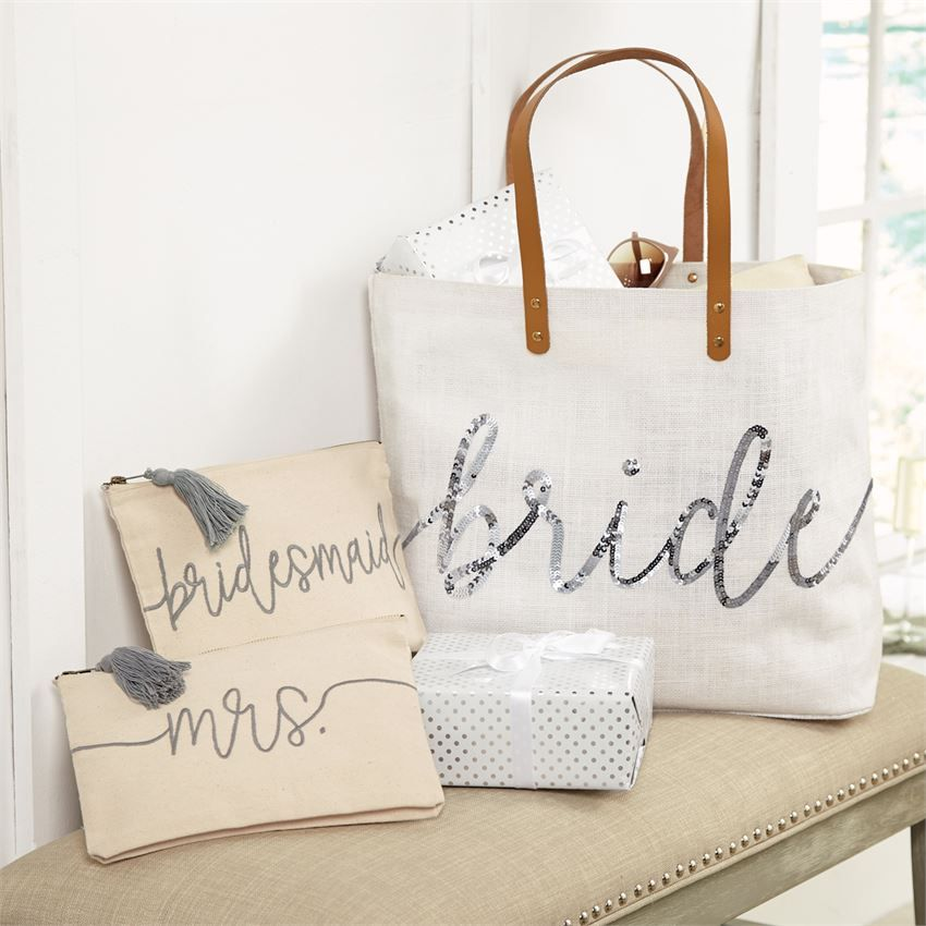 Expensive Wedding Gifts: Mrs. Embroidered Canvas Carry All Case