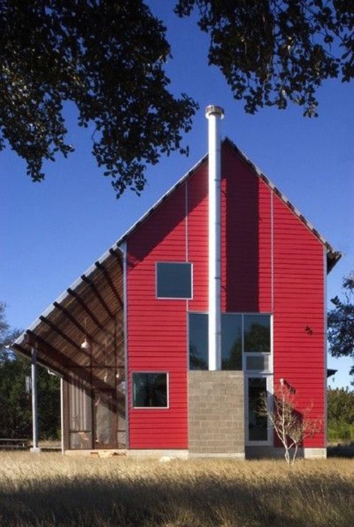 Modern Red Barn Residence By Mell Lawrence Architets Contemporary Architecture