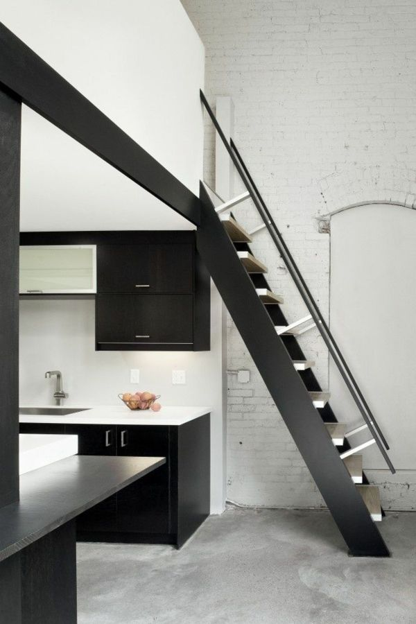 gerade treppe gestalten k che nach esszimmer treppen in 2018 pinterest treppe dachboden. Black Bedroom Furniture Sets. Home Design Ideas