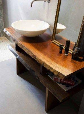Mobile bagno in legno massello vintage 140x45x75 | Bathroom ...