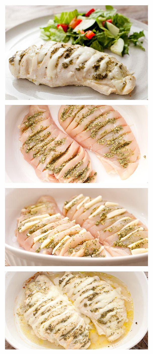 Pesto Hasselback Chicken