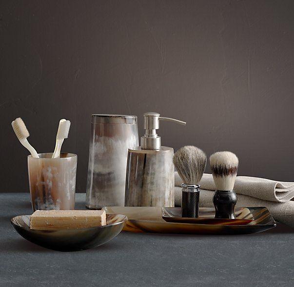 Bathroom Accessories Restoration Hardware horn bath accessories | restoration hardware | | the bath