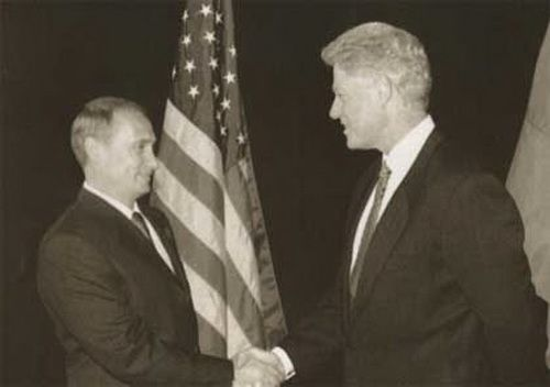 With Bill Clinton. September 1999, Auckland, New Zealand.