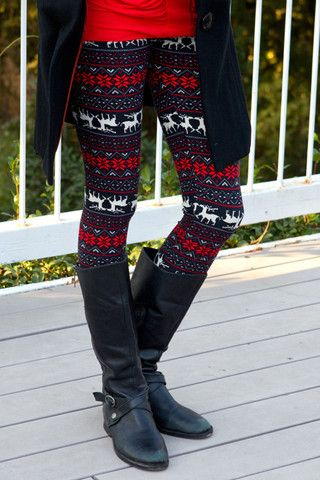 79bd39612884c7 Flower Reindeer Leggings | Fashion | Christmas leggings, Tacky ...