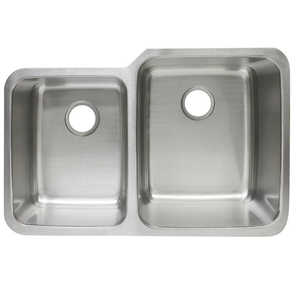 Undermount Stainless Steel 20 62x32x8 10 0 Hole Double Bowl