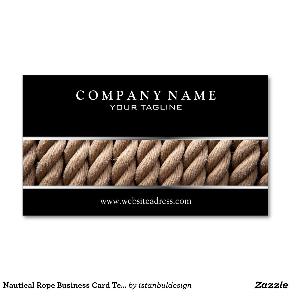 Nautical Rope Business Card Template | Nautical Business Cards ...