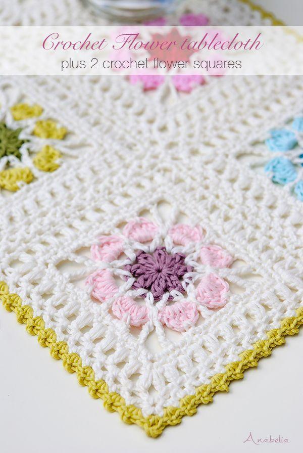 Crochet Flower Squares pattern, by Anabelia Craft Design | FARKLI ...