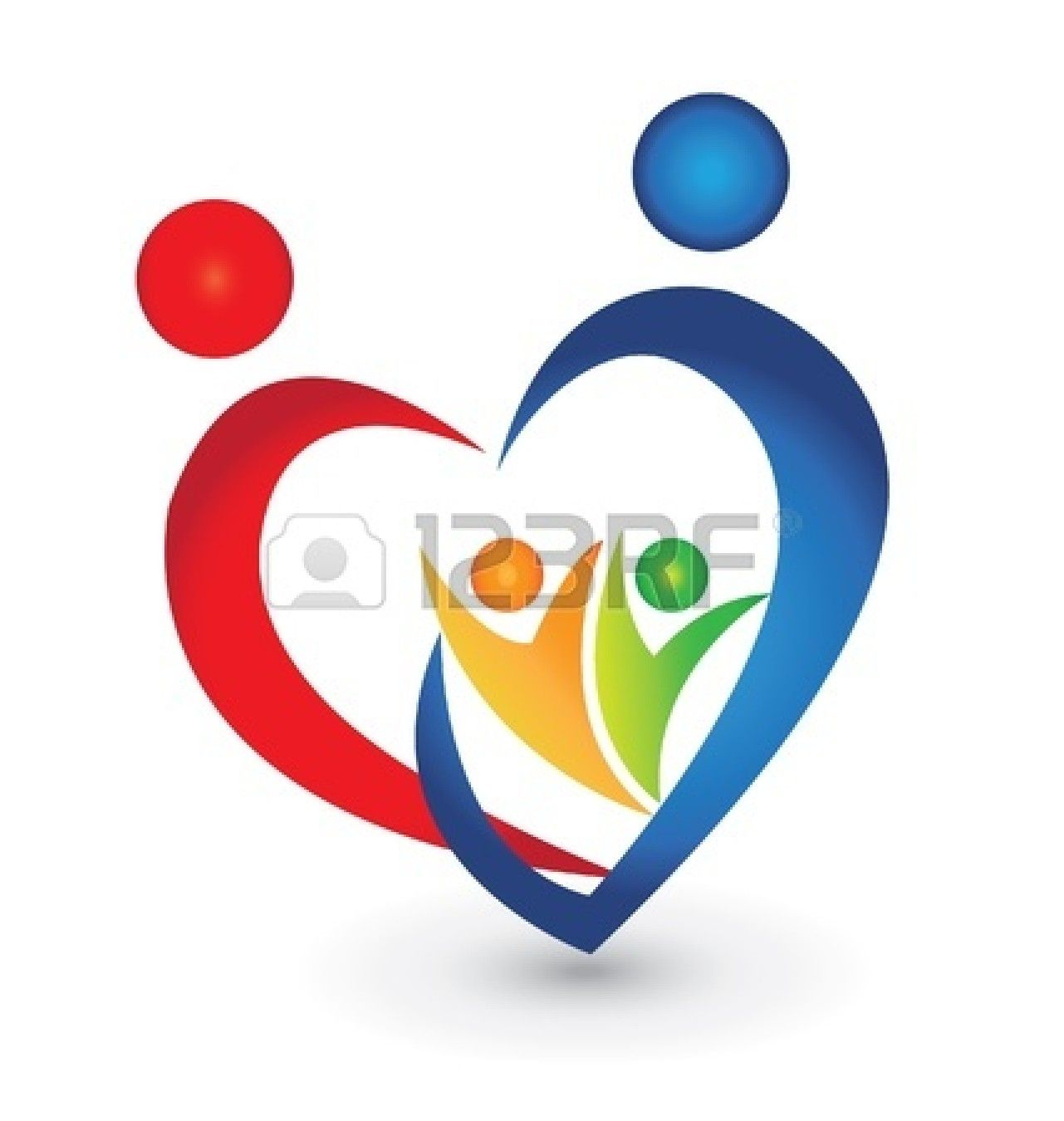 Heart stock illustration royalty free illustrations stock clip art - Family Union In A Heart Shape Logo Royalty Free Stock Images Image 26757519