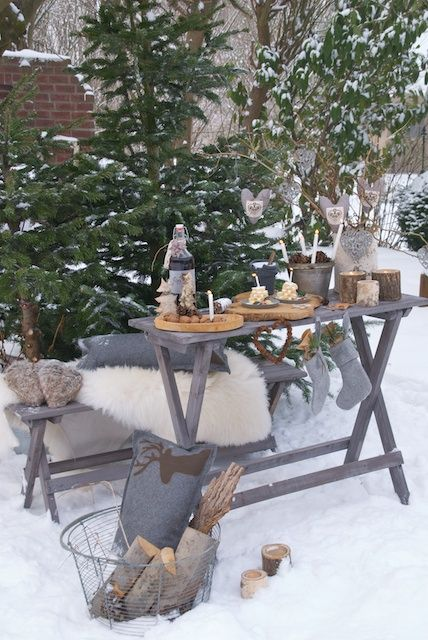 Picnic Is Over And Winter Is Coming >> Winter Picnic Picnic Balcon Hiver Hiver Ve Decoration Hiver