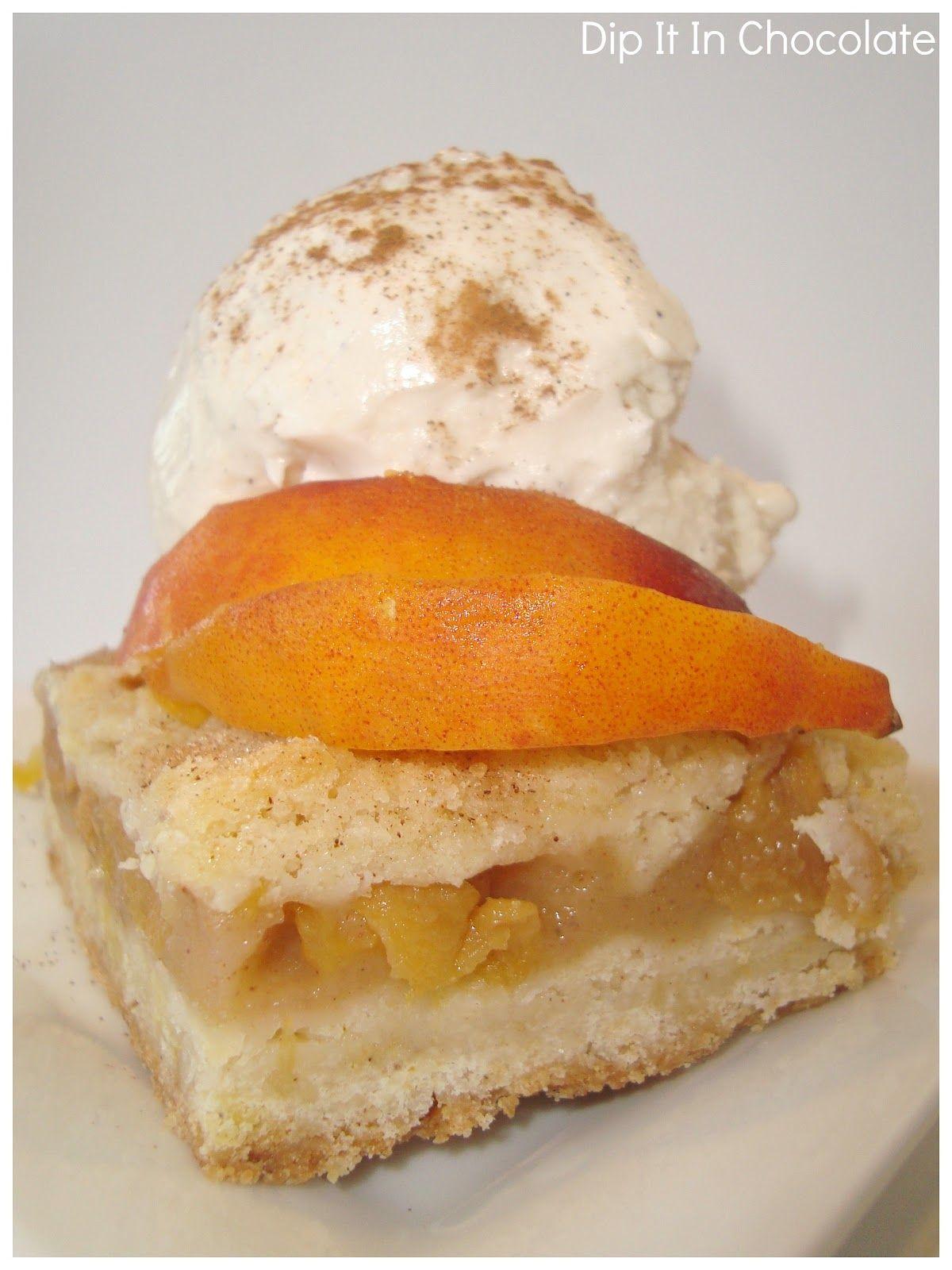 Dip it in Chocolate: Peach Crumb Bars