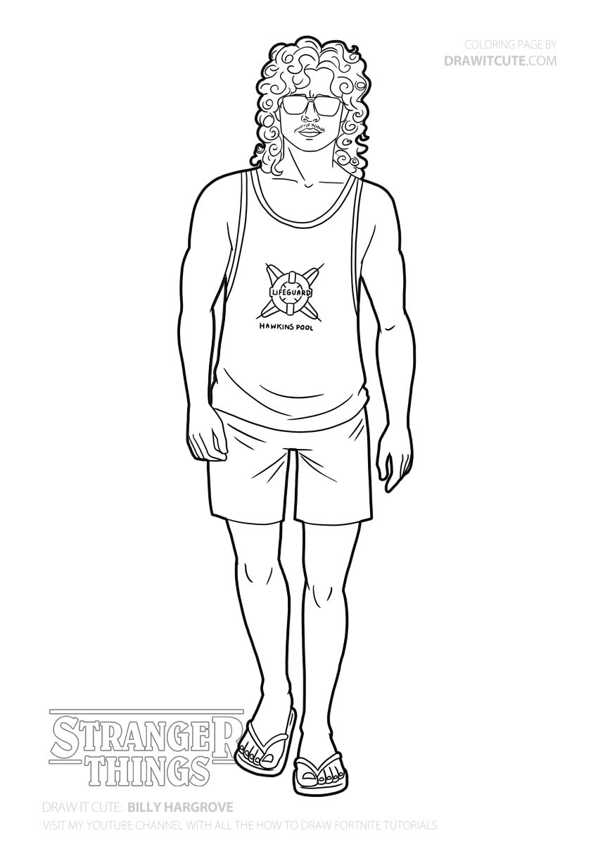 Draw It Cute On Twitter Stranger Things Coloring Pages Eleven Stranger Things
