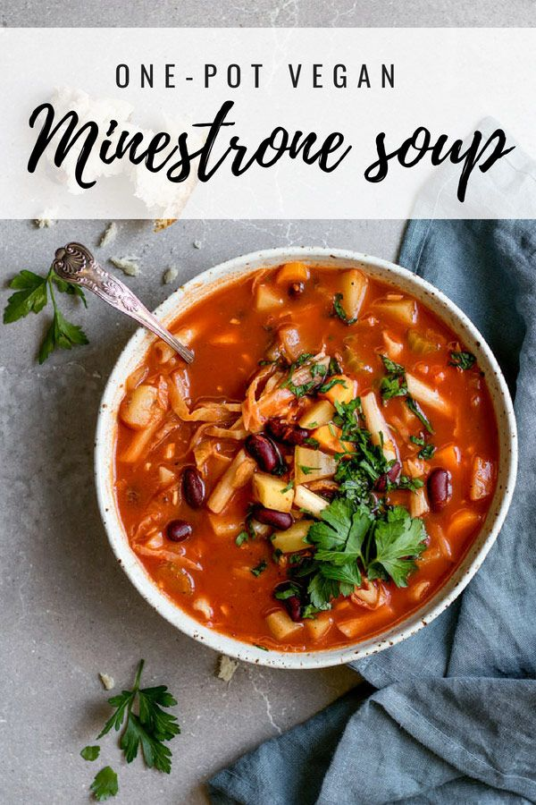One Pot Vegan Minestrone Soup