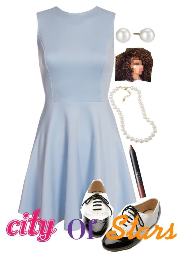 city of stars by breona-nytalia on Polyvore featuring Ollio, Majorica, Carolee and NARS Cosmetics