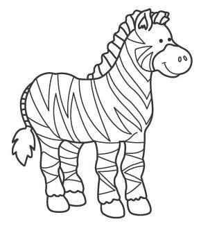 Resultado De Imagen Para Dibujo De Cebra Para Colorear Dibujos