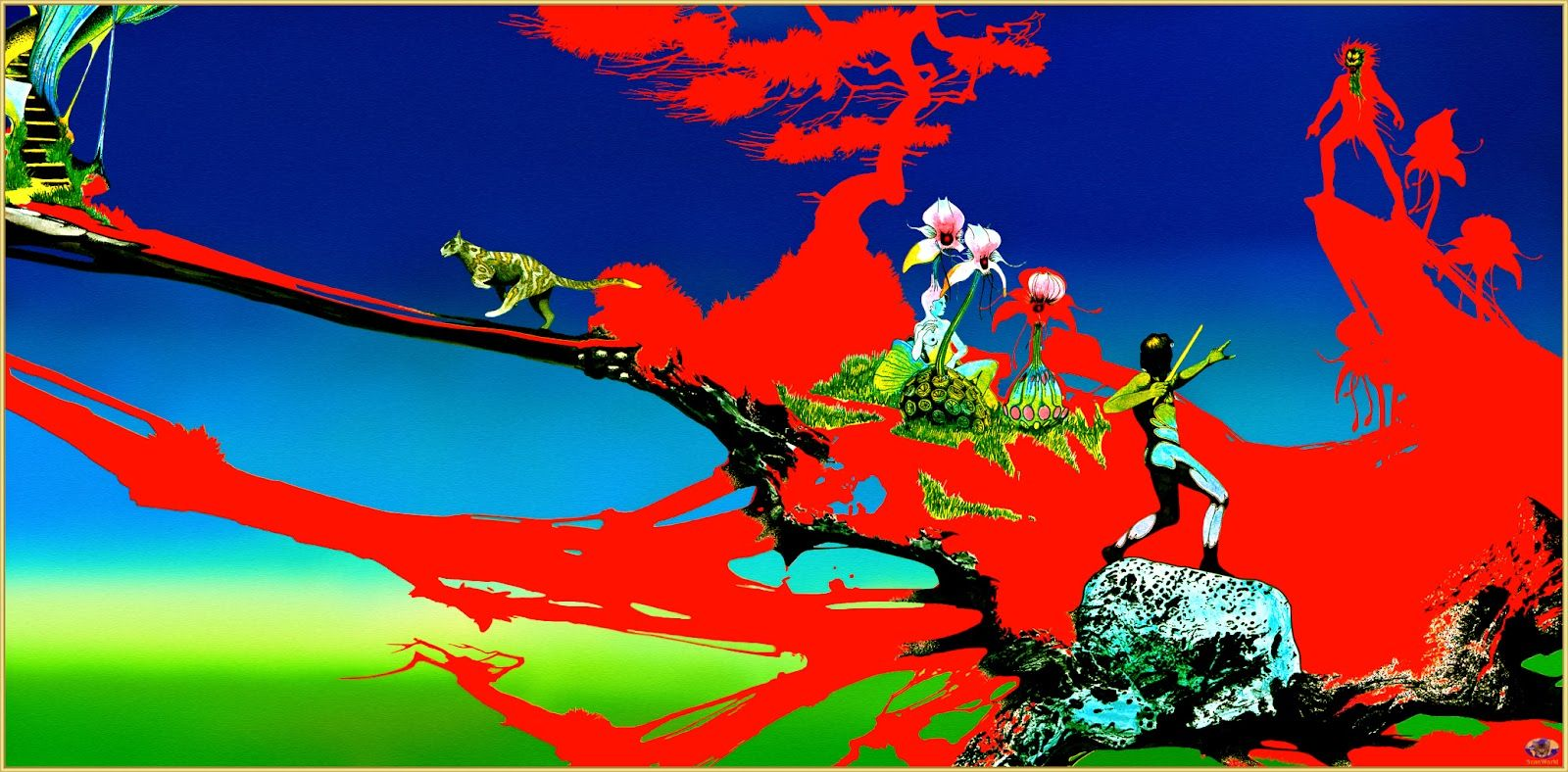 The Magician S Birthday A Roger Dean Painting For A Uriah Heep Album Roger Dean 70s Sci Fi Art Album Art