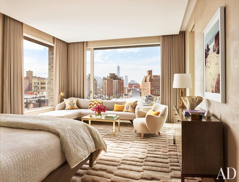 Bedroom by dufner heighes in new york ny 20 luxurious for Interior design inspiration new york