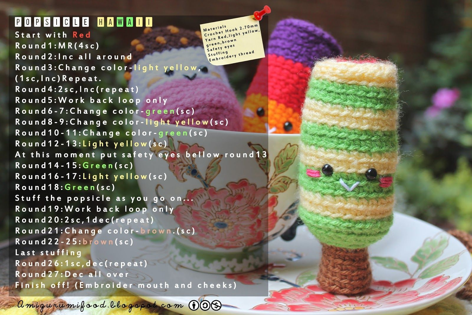 Amigurumi food party popsicle free pattern crochet food amigurumi food party popsicle free pattern bankloansurffo Choice Image