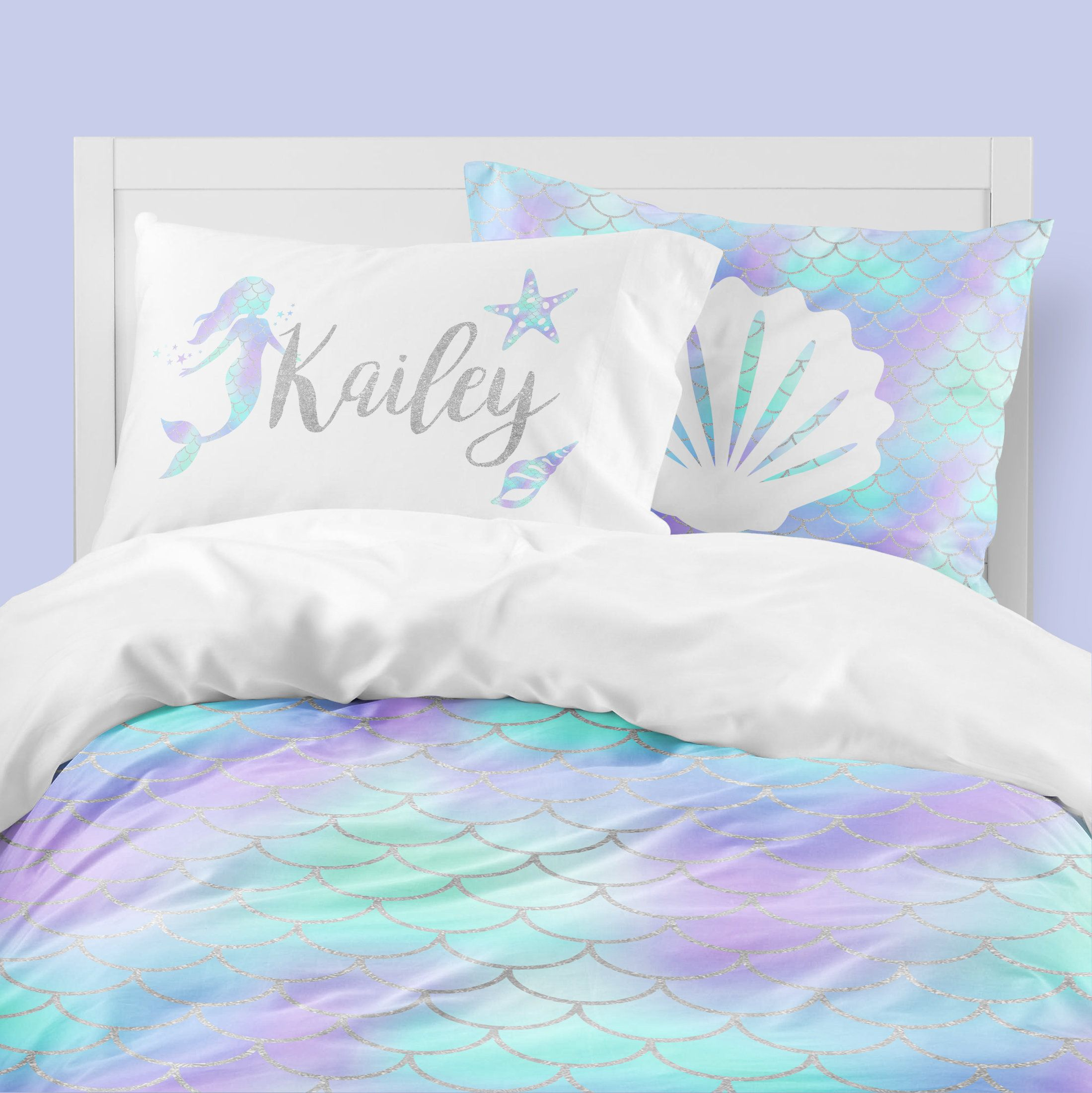Mermaid Twin Bedding Toddler Comforter Duvet Mermaid Scales