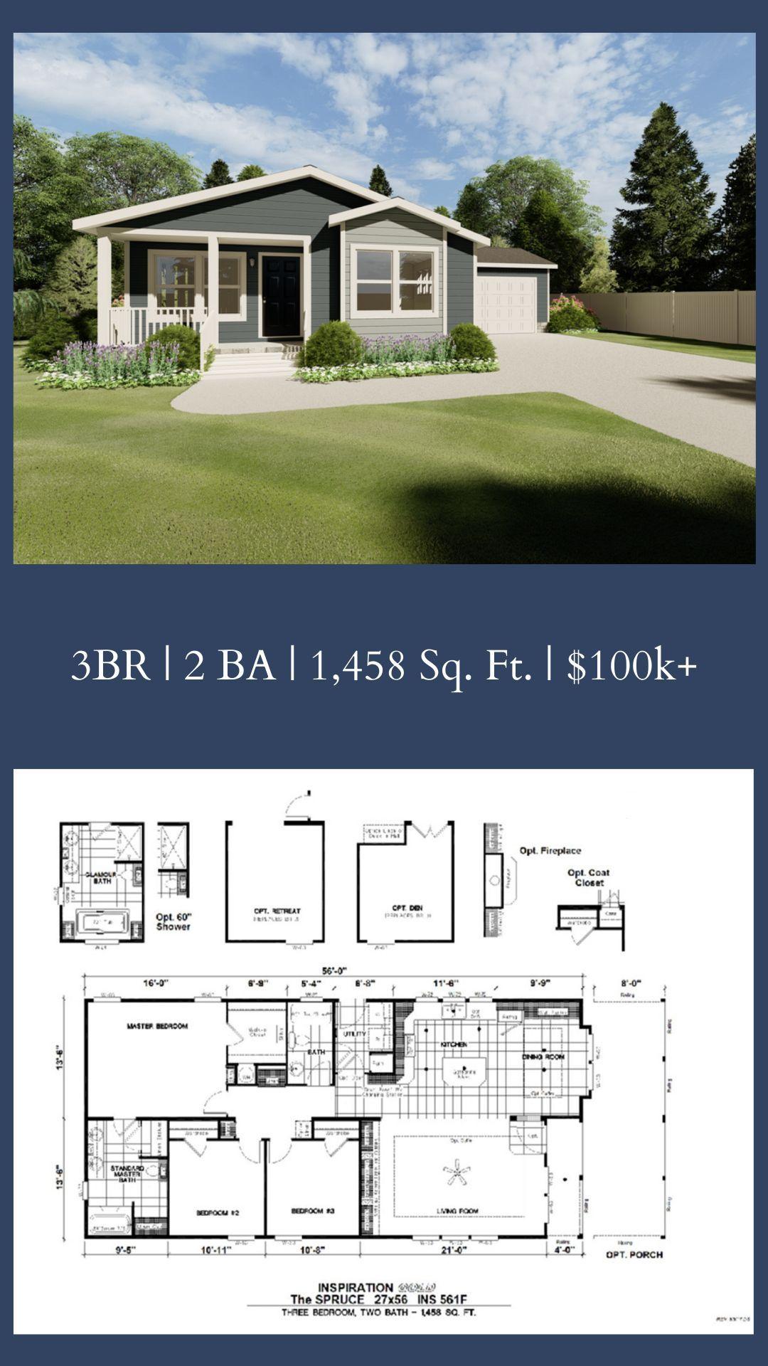 Click For 3d Tour 72ins28563bh Floor Plans Master Bedroom Retreat House Plans