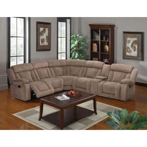 Acme Furniture Kylie Tan Fabric 7 Piece Sectional Sofa