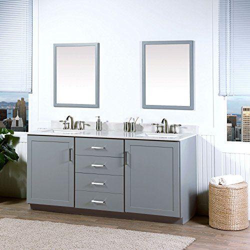 Maykke Sterling 72 Inch Bathroom Vanity Cabinet In Birch Wood