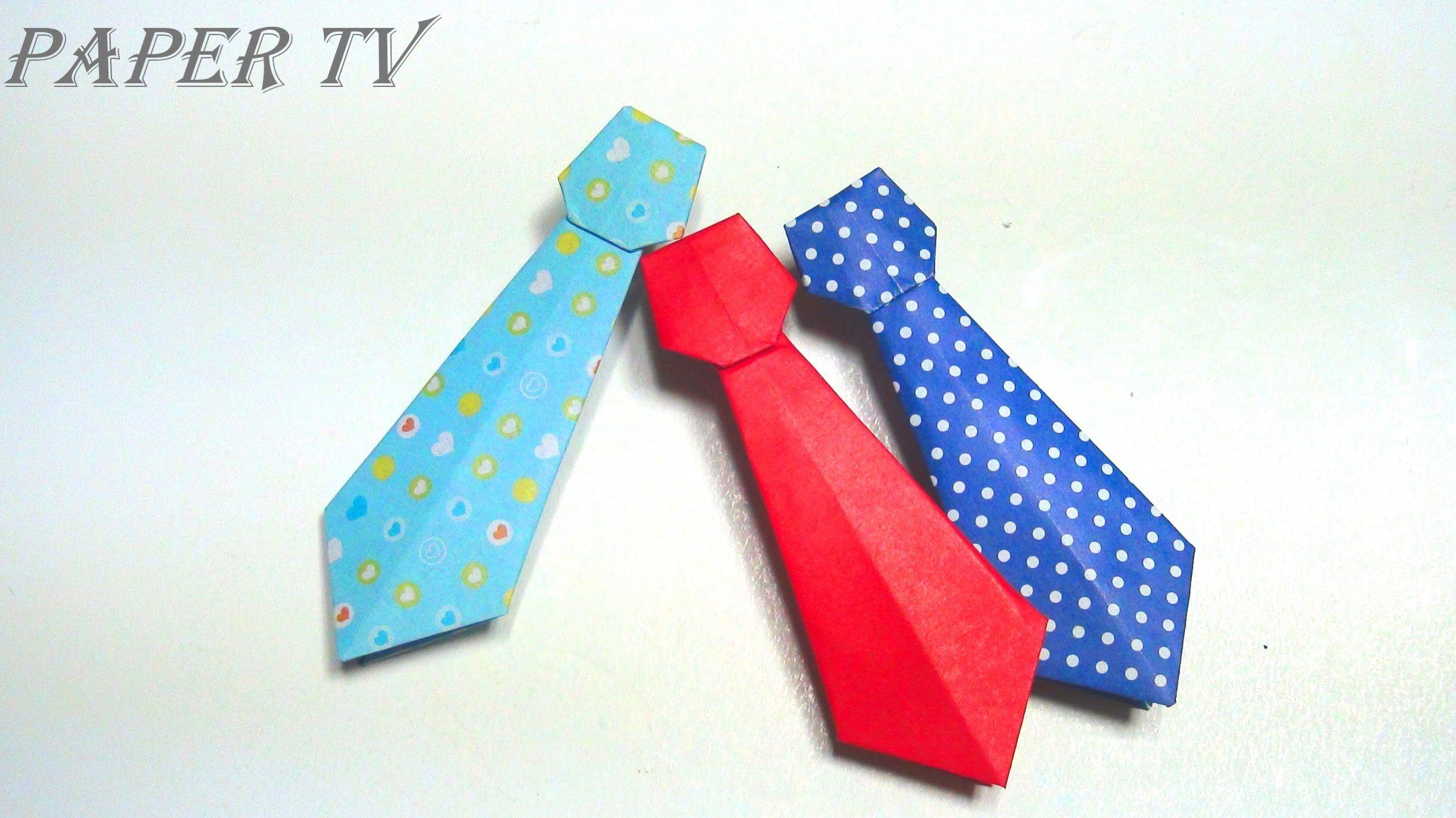 paper tv origami necktie  como hacer corbata de papel