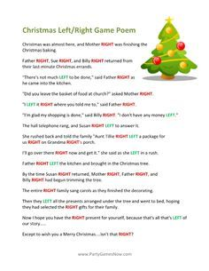 photo regarding Left Right Christmas Game Printable named Straight+Remaining+Xmas+Recreation Holiday vacation Plans Printable