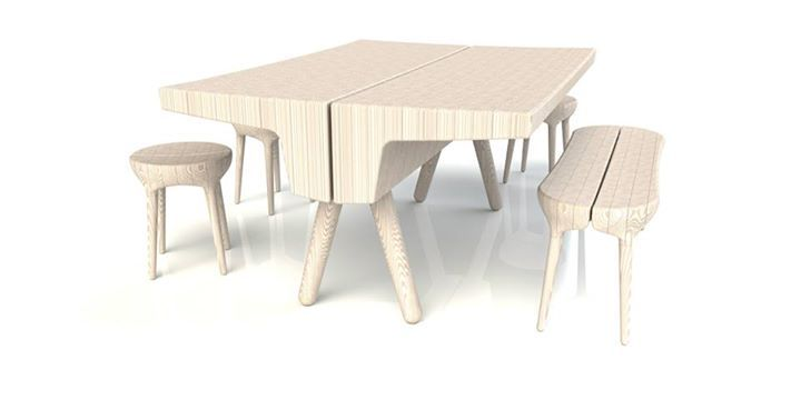 3D Furniture Collection By Martin Gallagher | Stools, Furniture Sets And  Contemporary Coffee Table Design
