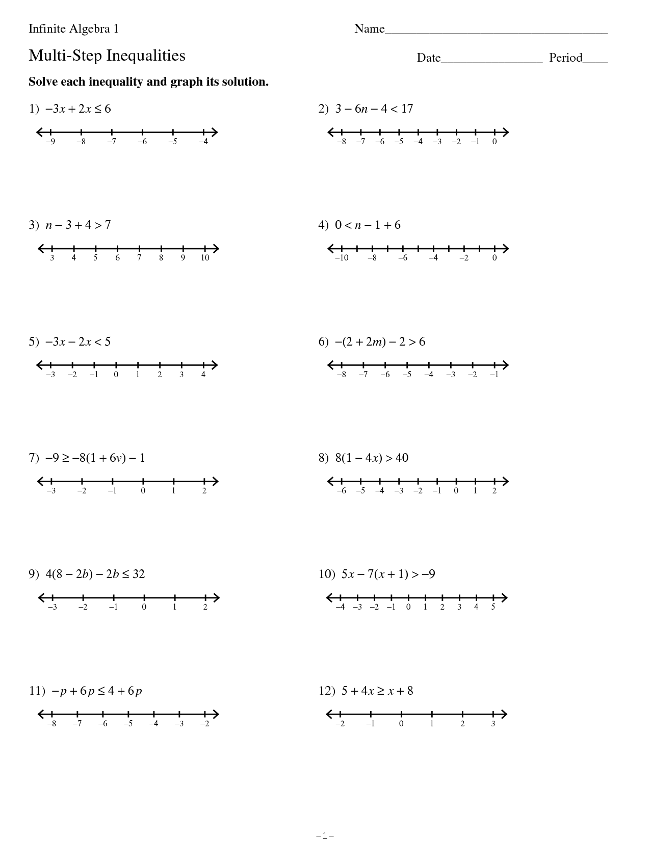 Linear Equations In Two Variables Worksheet Kuta