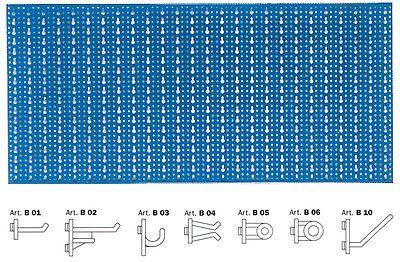 Porta Utensili Da Muro.Pannello Forato Porta Attrezzi Utensili Blu A Da Muro Parete