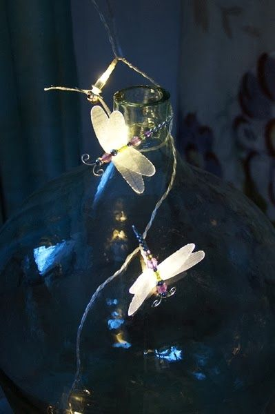 Dragonfly/butterfly lamp DIY