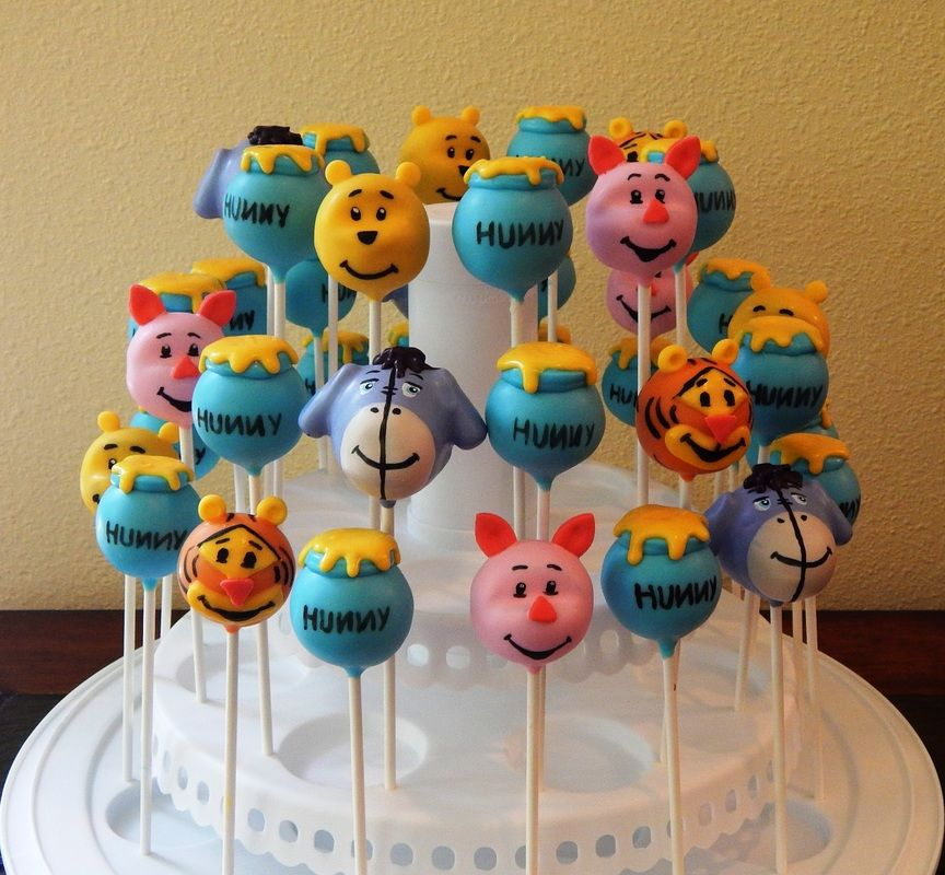 Winnie The Pooh And Friends Cake Pops Kid Themed Cake