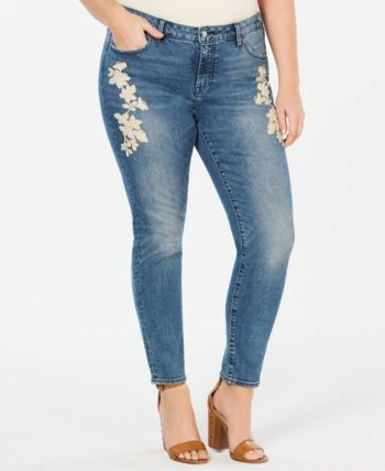 c8d0833424bc9 Lucky Brand Plus Size Curvy-Fit Embroidered Lolita Jeans in 2019 ...