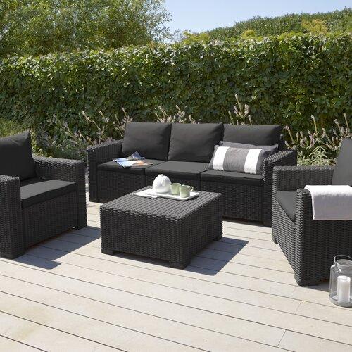 California 5 Seater Rattan Effect Sofa Set Homestead Living Colour Black Rattan Garden Furniture Best Outdoor Furniture Outdoor Furniture Decor