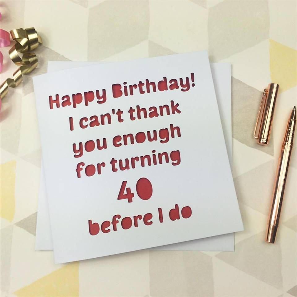 40th birthday card 40th birthday 40 card 40th gift friend 40 – 40 Birthday Cards