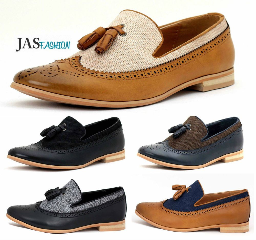 960af72f4b Mens Smart Casual Shoes Tassel Loafers Dress Slip On Office Size 6 7 8 9 10  11