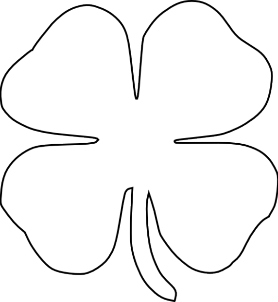 Free St Patricks Day Printables Four Leaf Clover Template Coloring Page St Patrick S Day Crafts St Patrick St Patricks Day Crafts For Kids