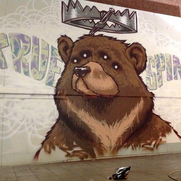 Street art artist A squid called Sebastian - - Check more @ http://www.Streetart.nl or @streetart.nl #streetart