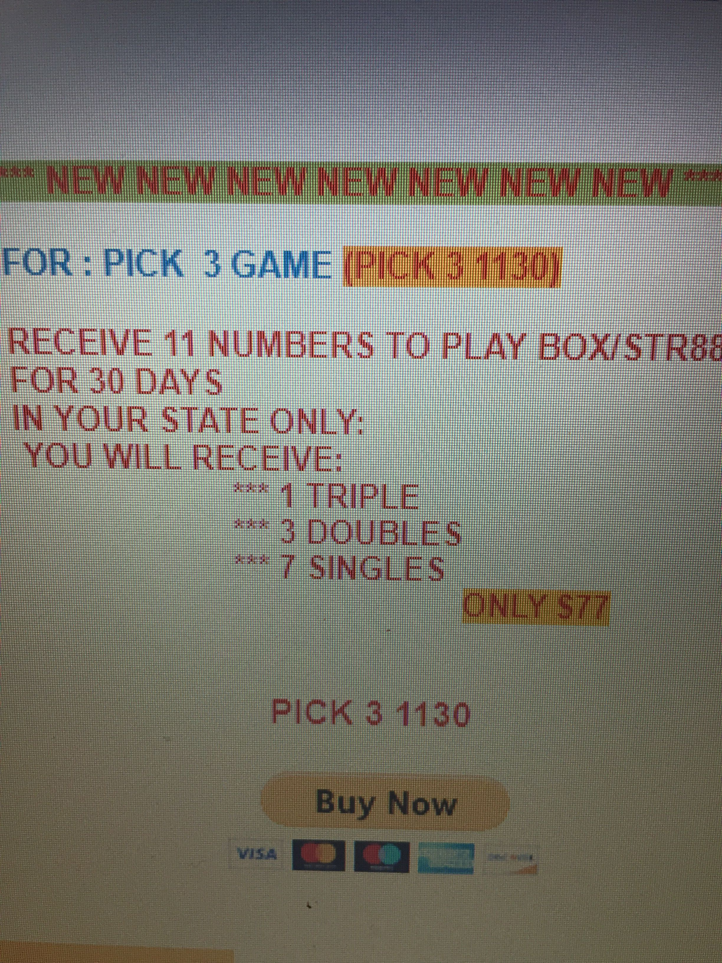 Receive 11 Winning Numbers To Play Box Str888 For 30 Days