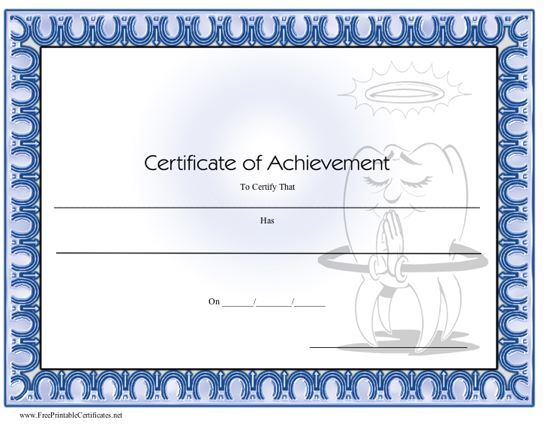 This printable certificate of achievement is from a dentist or - printable achievement certificates