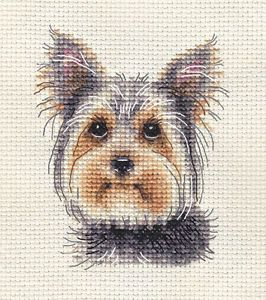 Full counted cross stitch kit All materials BORDER TERRIER PUPPY ~ Dog