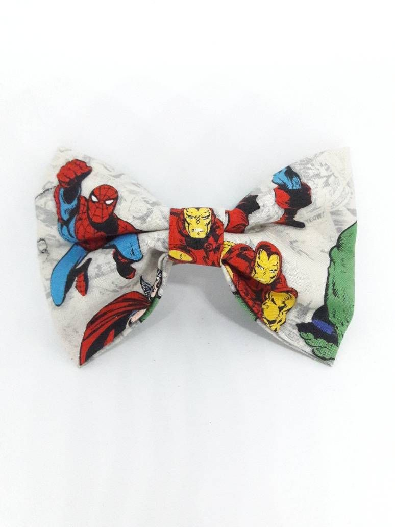 handmade marvel avengers superhero hair bows - nerdy girls - gifts