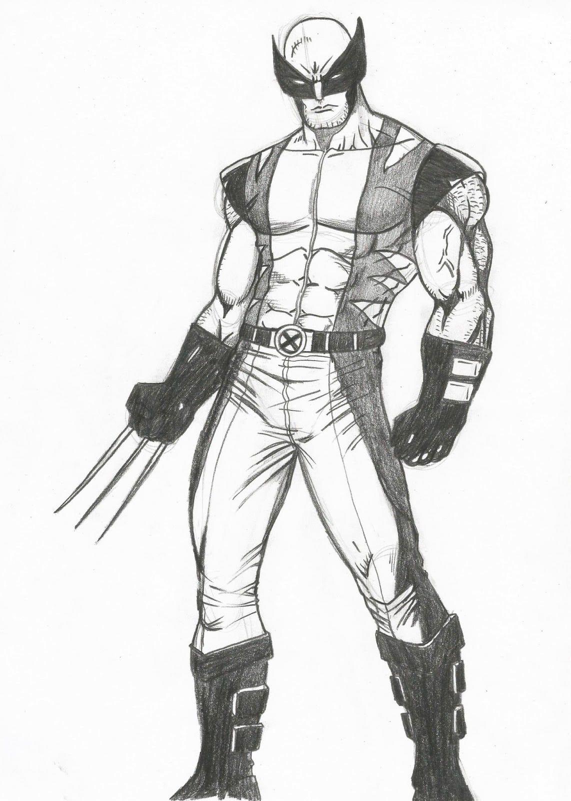 Desenho Do Wolverine Com Imagens Wolverine Wolverine Desenho